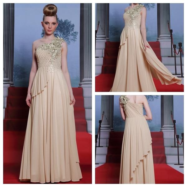 Tan Evening Dress