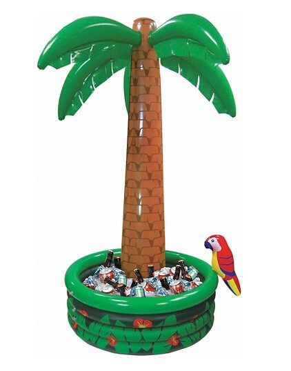 New Hawaii Series Large Inflatable Coconut Palm Tree Drinks Party Decorations Cooler Ice Bucket Sandbeach Recreation Kids Toys