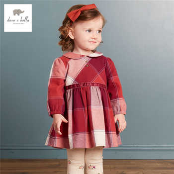 DB3986 dave bella autumn baby girl princess dress baby roll neck dress kids birthday clothes dress kids floral dress costumes - DISCOUNT ITEM  0% OFF All Category