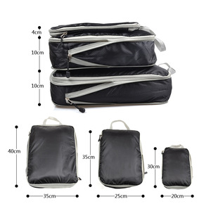 Image 2 - 3 PCS Travel Storage Bag Set For Clothes Tidy Organizer Wardrobe Suitcase Pouch Travel Organizer Bag Case Shoes Packing Cube Bag