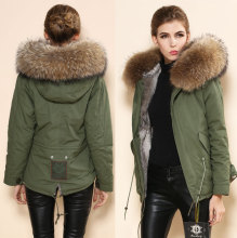 Winter Womens Parka Casual Outwear Military Hooded Coat Winter Jacket Women Fur Coats Real Rabbit Fur Woman fur parka