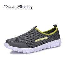 DreamShining Женская Обувь Плюс Размер 35 ~ 46 Супер Свет Весна Лето Тренер Мужской Обуви Квартир Женщин Причинную Скольжения На квартиры Обувь
