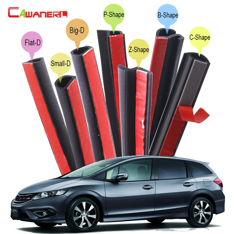 Cawanerl Car Accessories Car Rubber Sealing Seal Strip Kit Weatherstrip Noise Control Waterproof Dustproof For Honda Jade Civic