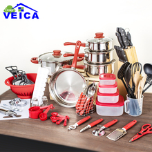 Cookware Set Sale Stainless Steel 2017 Top Fashion Cookware Cooking Tool Pots And Pan Set 80 Piece Kitchen Starter Combo Utensil