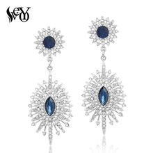 VEYO Rhinestone Earrings for Woman Drop Earrings Crystal Earrings Classic Trendy Elegant High Quality Brincos Pendientes