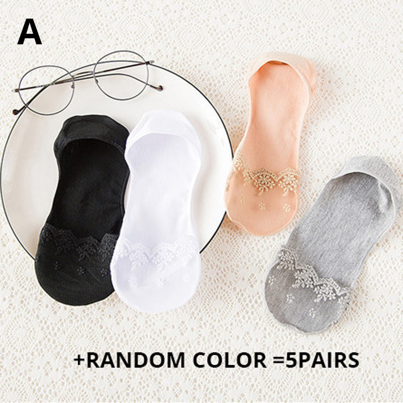 SP & CITY, 5 шт., Классические однотонные летние носки-лодочки, женские носки на тонком высоком каблуке, тапочки, женские блестящие короткие низк...