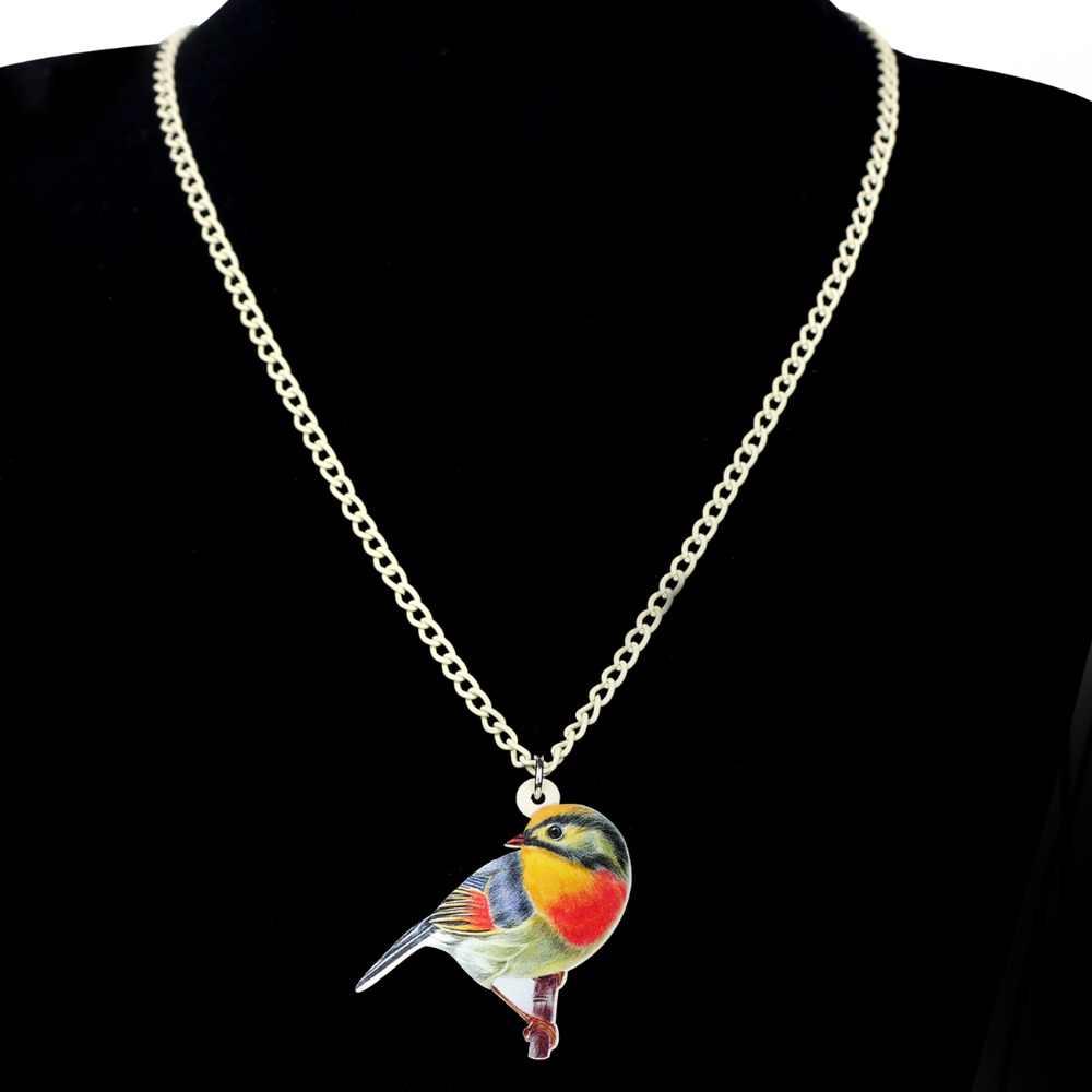 Bonsny Acrylic Bộ Trang Sức Thông Minh Hoạt Hình Nhiều Màu Sắc Chim Bông Tai Vòng Cổ Choker Mặt Dây Chuyền Thời Trang Nữ Cô Gái Quà Tặng Trang Trí