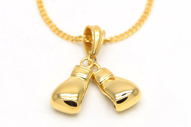 Zidom 1 gold plating three dimensional little boxing glove pendant zidom 1 gold plating three dimensional little boxing glove pendant hiphop necklace with 24inch miami aloadofball Image collections
