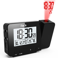 Digital Projection Clock Desk Table Led Digital Snooze Alarm Clock Backlight Projector Clock With Time Temperature Projection