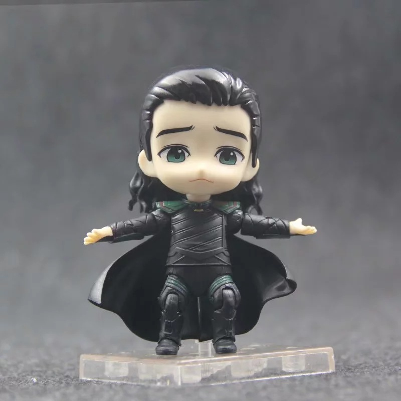10cm Anime Marvel Avengers Loki in Movie Thor Nendoroid 866 Cute Kawaii Super Hero Action Figure Toys Gift