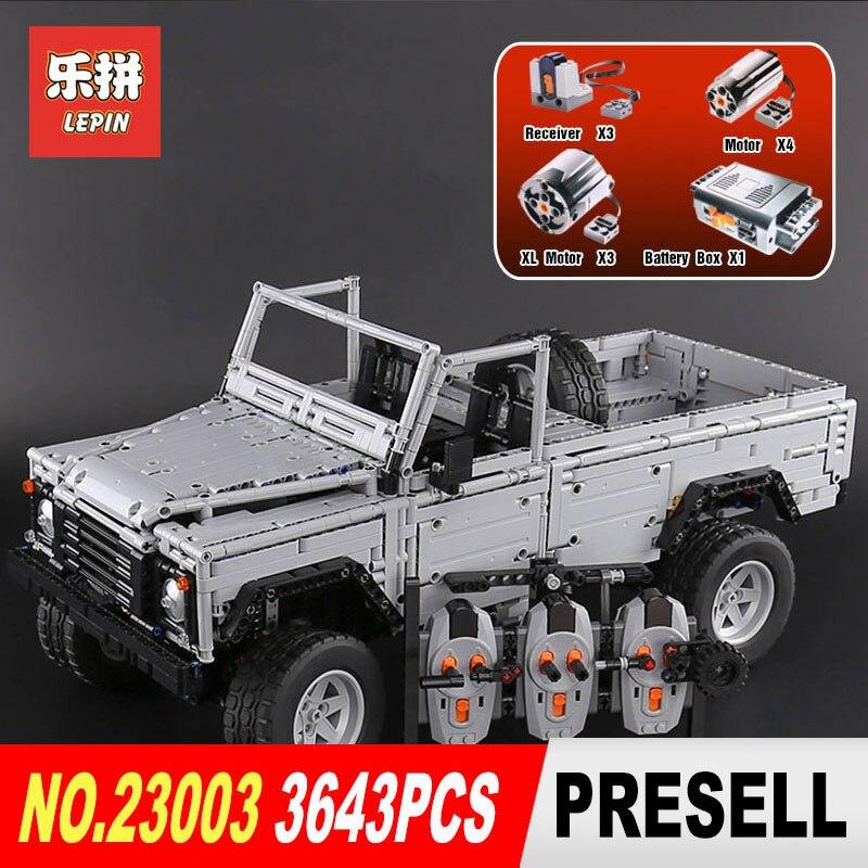 Lepin 23003 3643Pcs Technic series Creative MOC RC Wild off road vehicles model Building Blocks Bricks
