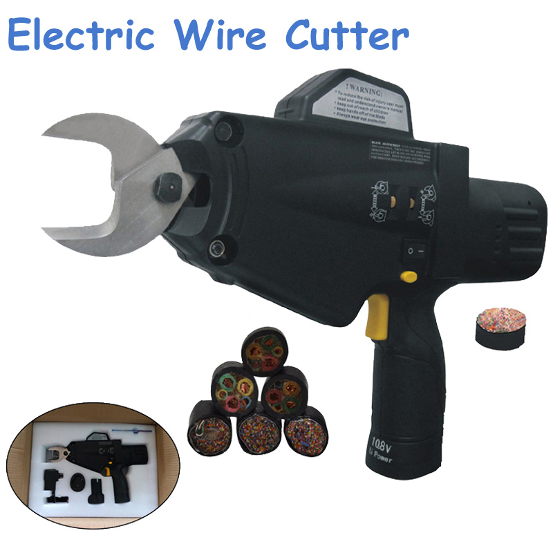 Electric Wire Cutter Battery Cable Scissors Cuting Machine Wire Cable Clamp Bolt Cutter/ Garden Shears Branches/ Wire Shear 8100 цена и фото