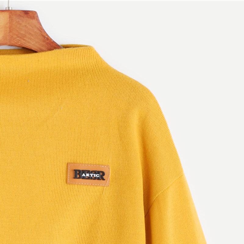HTB1j4gtSXXXXXcNXXXXq6xXFXXXt - Funnel Neck Sleeve Lighthouse Patch Sweat Shirt Autumn Yellow Jerseys Ladies' Neck Long Shirts JKP014