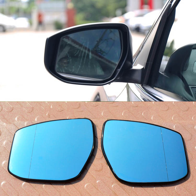 Ipoboo 2pcs New Power Heated w/Turn Signal Side View Mirror Blue Glasses For Nissan Sylphy