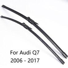 Щетки стеклоочистителя лобового стекла для Audi Q7 форма 2006 2007 2008 2009 2010 2011 2012 2011 до Резина стеклоочистителя лобового стекла автомобиля