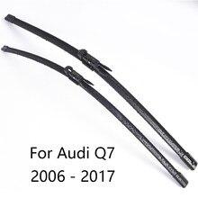 Lâminas de limpador para pára-brisa do carro para audi q7 form 2006 2007 2008 2009 2010 2011 2012 2011 para 2017 carro limpador de pára-brisas borracha