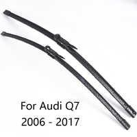 Coche limpiaparabrisas para Audi Q7 forma 2006, 2007, 2008, 2009, 2010, 2011, 2012, 2011 a 2017 de parabrisas de coche limpiaparabrisas de goma