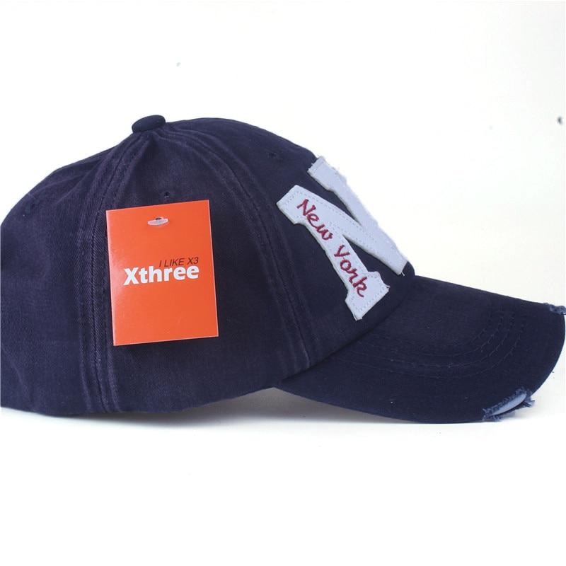 Xthree unisex mode cotton baseball cap snapback topi untuk pria - Aksesori pakaian - Foto 3