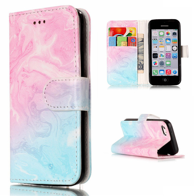 sports shoes 9d39b ca162 US $4.99 |Granite Marble Texture Flower Wallet PU Leather Flip Cover For  Apple Iphone 5C Case Stand Card Fundas For Iphone 5C Phone Bag-in Wallet ...