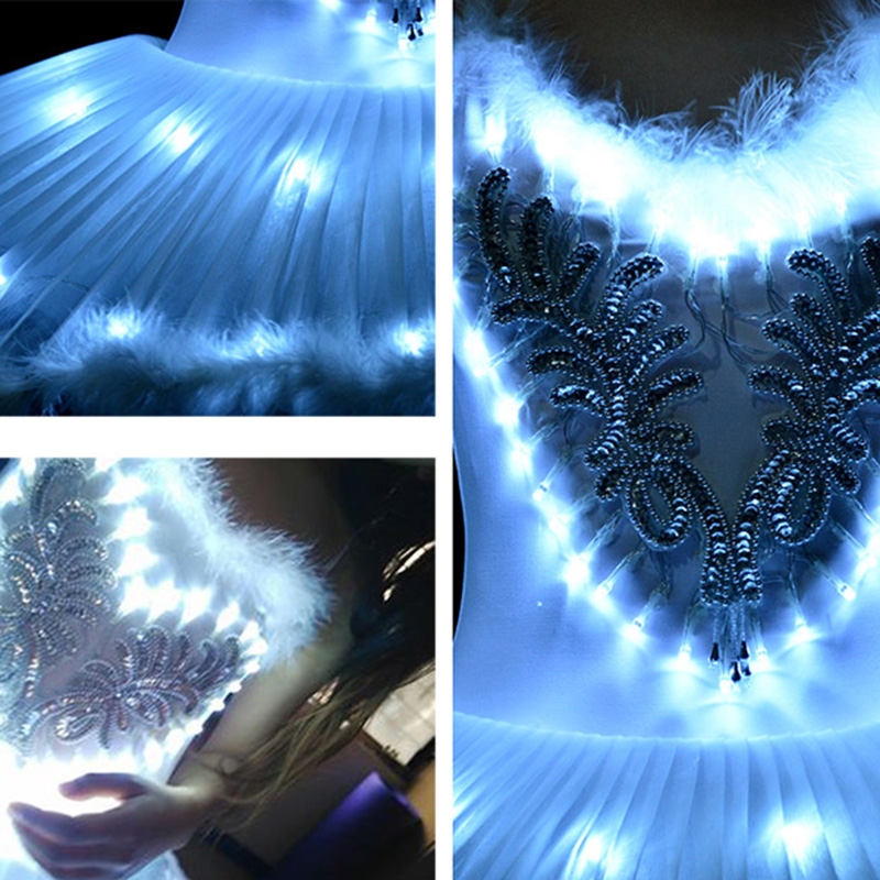 Professional Ballet Tutus LED Swan lake Adult Ballet Dance Clothes Tutu Skirt Women Ballerina Dress for Party-in Ballet from Novelty & Special Use    3