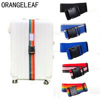 190CM Luggage Straps Travel Suitcase Accessories Bag Strap New Adjustable Luggage Password-less Lock Nylon Belt Strap