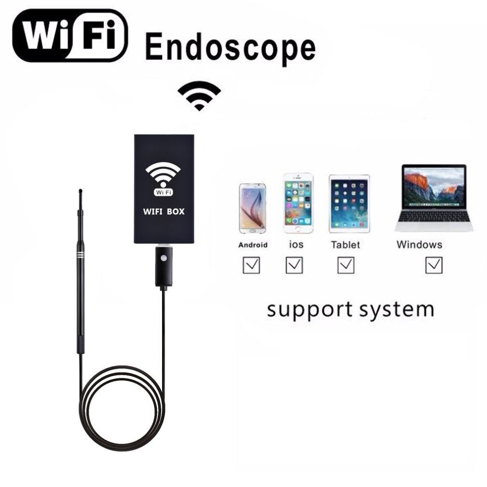5.5 mm WiFi Endoscope Camera Mini Waterproof Inspection Camera USB Endoscope With 2-in-1 USB Ear Cleaning Endoscope For IPhone