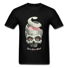 Tops & Tees For Men TShirt Skull T Shirt Printed Faddish OPEN YOUR MIND Short Sleeve T-Shirt NEW YEAR DAY Clothes All Cotton