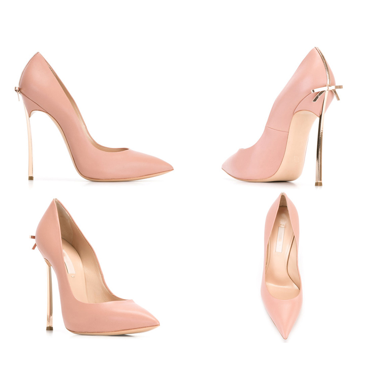 Aidocrystal 2017 New Fashion bowknot high heels women pumps thin metal heel sexy pointed toe pink prom shoes Office Ladies Shoes aidocrystal popular beautiful high heel pink all leather dress shoes
