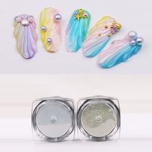6g/box Pearl Shell Chameleon Mirror Nail Powder Glitters DIY Art Chrome Pigment Dust Manicure Decoration