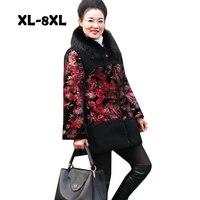 2018 Womem модная стеганая куртка китайский Для женщин одежда дамы зимняя куртка Пальто Верхняя одежда костюм Размеры 8XL высокого качества %