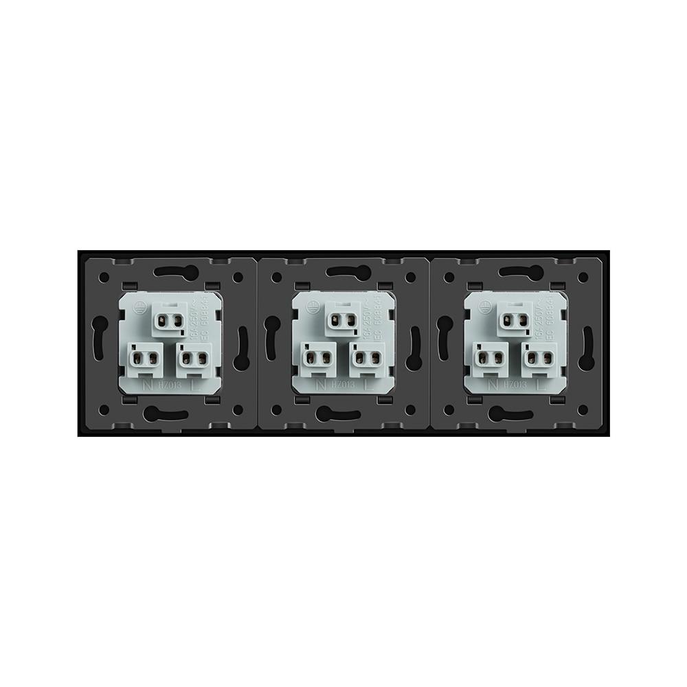 Livolo New US Standard Power Socket, Black Crystal Glass Socket ...