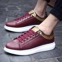 YeddaMavis Red Men Shoes Casual Sneakers Spring New Korean Low Help Lace Up Basket Mens Zapatos De Hombre