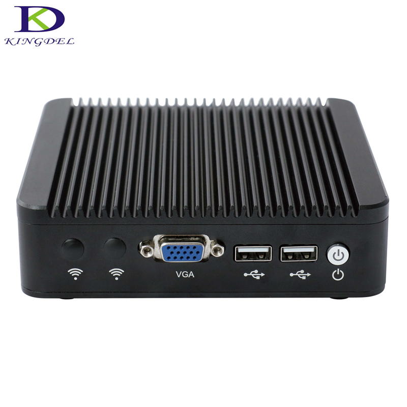 Kingdel Windows7  Intel Celeron J1900 Mini PC  1*VGA Port, 4*LAN Port(RJ-45)   2GHz Quad Core   Fanless Mini Desktop  TV Box