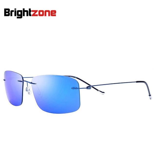 2016 new fashion hombres mujeres sin rebordes titanium gafas de sol gafas de sol polarizadas urltra-light fonex partido square gafas de sol con la caja
