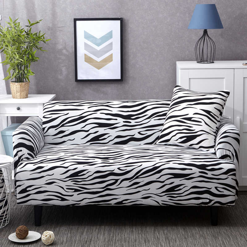 Zebra Color Living Room Sofa Cover