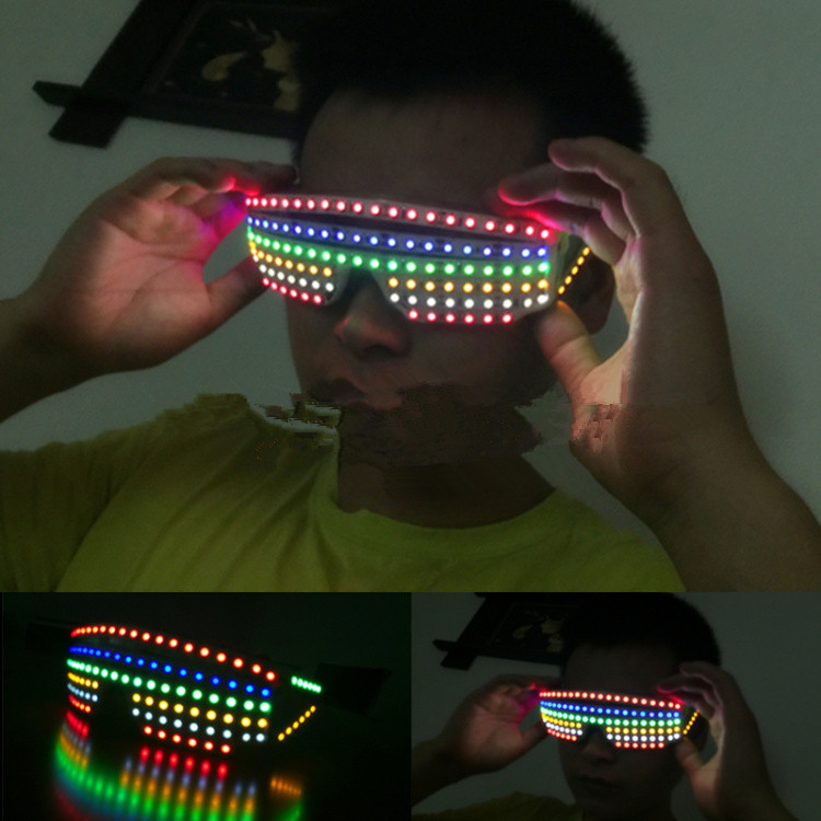 Hot Sale Colorful Led Luminous Growing Lighting Up Glasses Illuminate Gift Glasses For Event Party Supplies DJ Club Stage Show