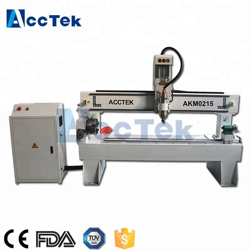 baseball bat cnc wood turning lathe AKM0215 3d router cnc wood carving machine|Wood Routers|   - title=
