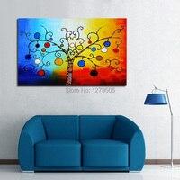 Hecho a mano Del Arte Abstracto Pintura Al Óleo Sobre Lienzo Árbol de Deseos Para Living Room Decor Cuelgue Grupo De Pinturas