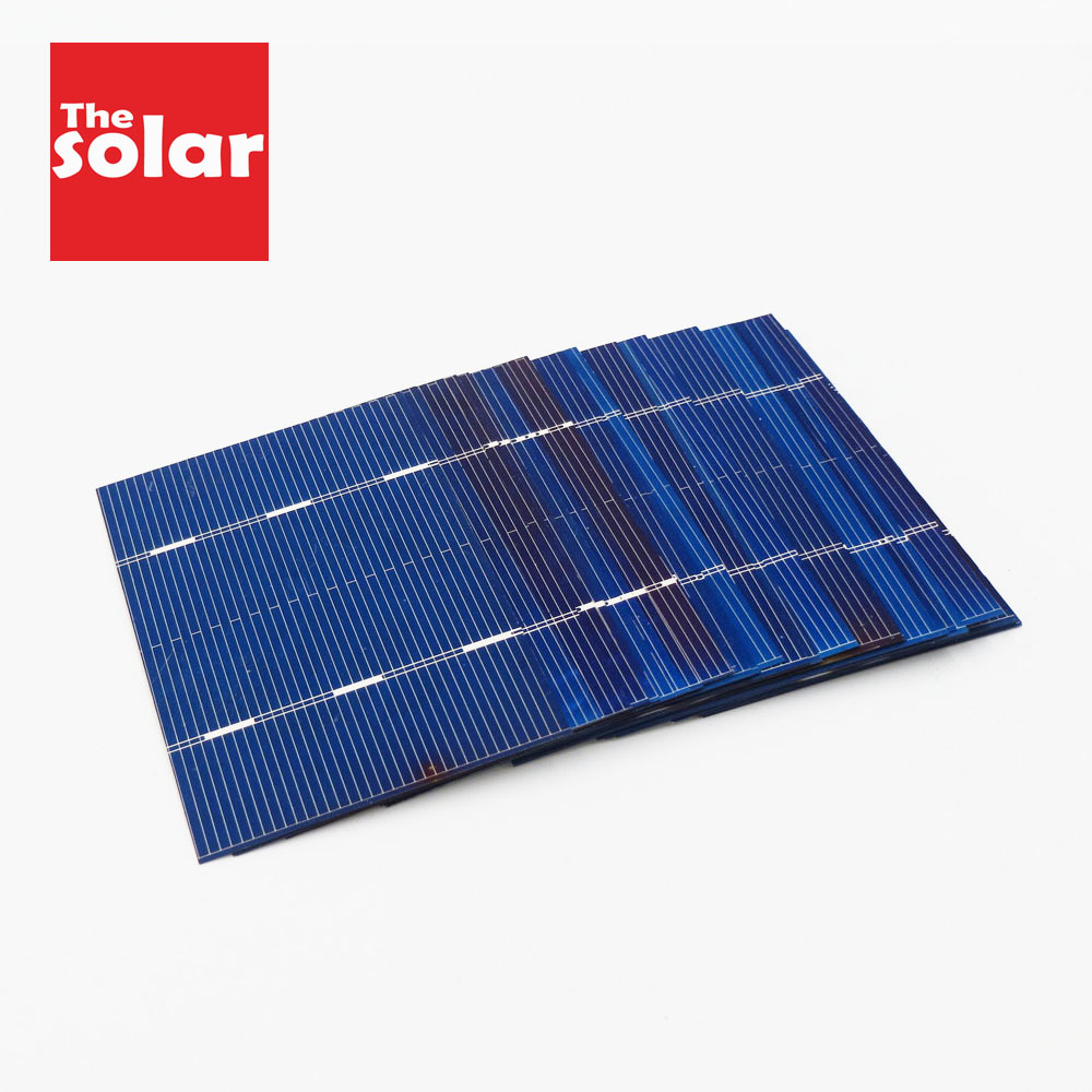 Aiyima 50//100Pcs 52*52mm 0.5V 0.43W Solar Panel DIY Solar Cell Battery Charger