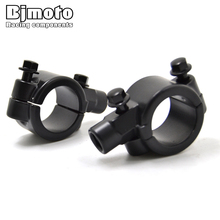 цены New Motorcycle 25mm Aliminum Handlebar Mirrors Mount Holder Clamps Adaptors For Harley Honda moto Motocross Mirror 10mm Thread