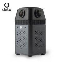 Detu F4 прямую трансляцию в 360 с detu Профессиональный VR Камера 360 видео Камера Wi Fi Камера удаленного 6 К полный HD видео Камера