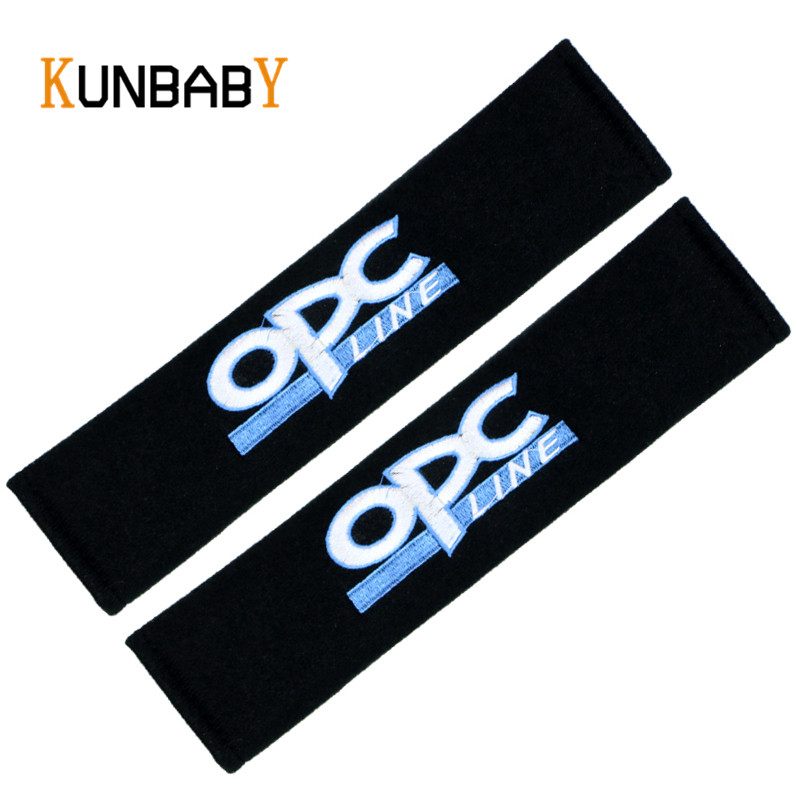 2PCS Black Car Seat Belt Cover Shoulder Pads Car Case For OPEL Astra Zafira Corsa For Men Women OPC Decal Sign Auto Accessories