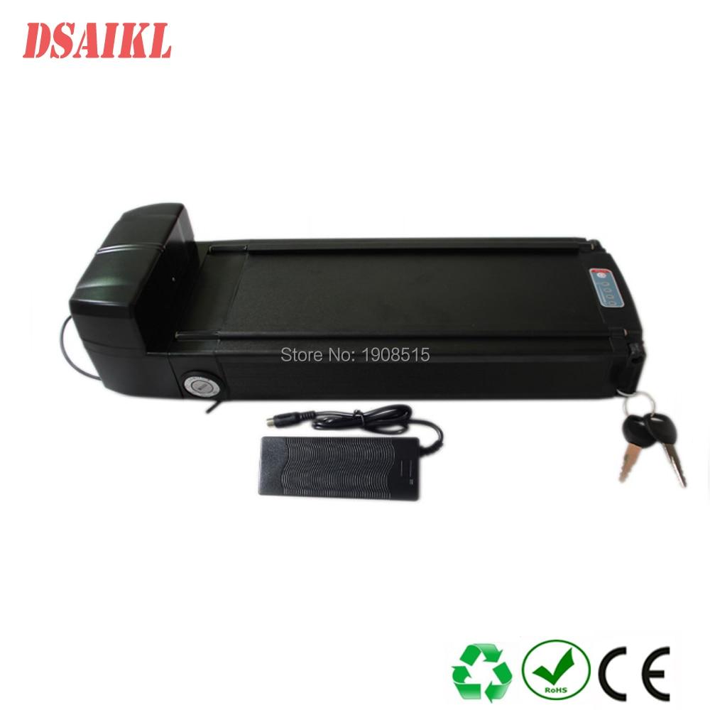 Rear rack 36V 10AH Electric Bike battery 36V LiFePO4 battery with 43.8V 2A charger smartbook 133s