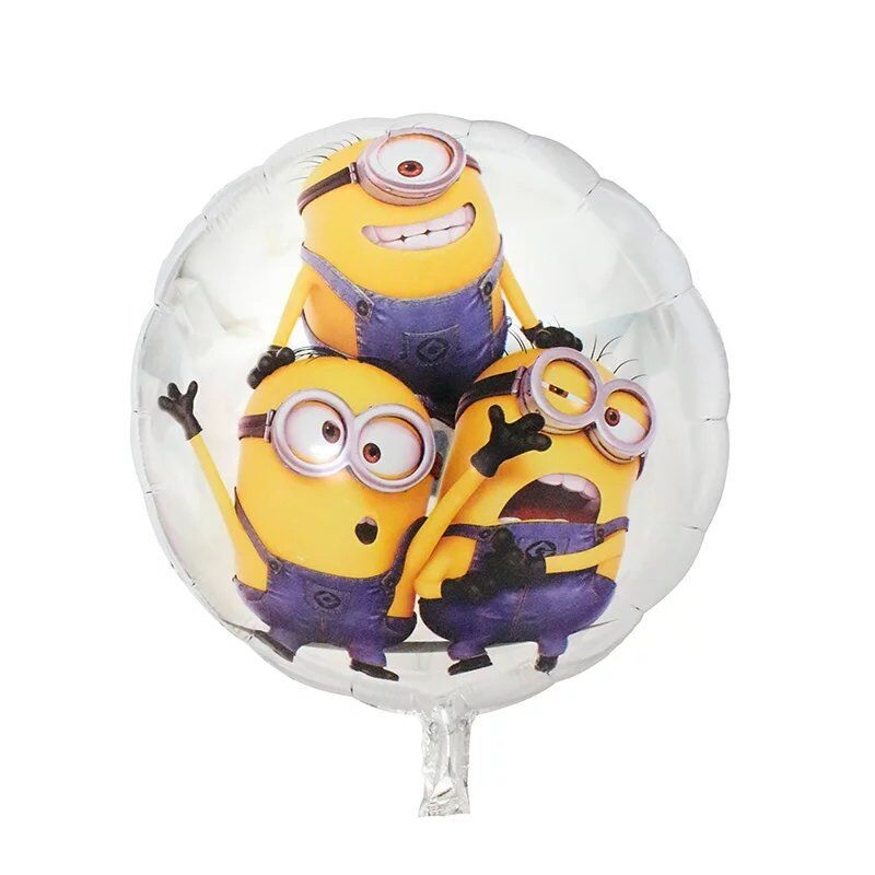 18 inches Minions Round Foil Balloons Inflatable toys Helium Balloon kids classi