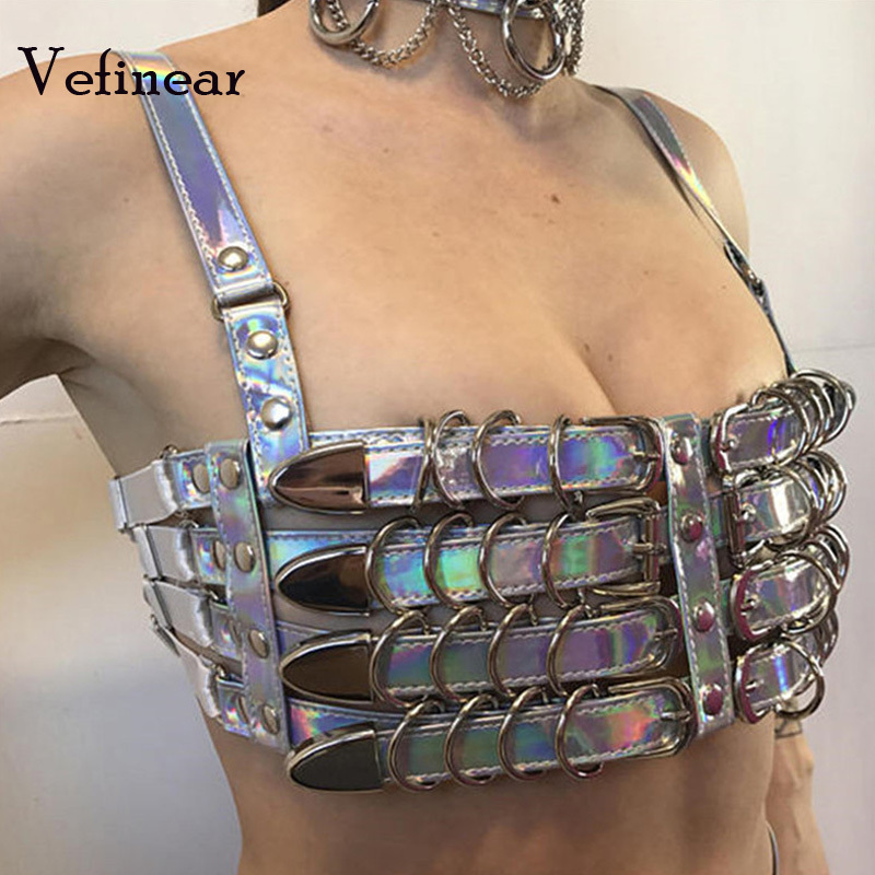 Vefinear 2018 New Pattern Tube Top Vest Sexy Fashion Hollow Out Bling Crop Top Summer Club Night Party Wear Women Tops Blusas