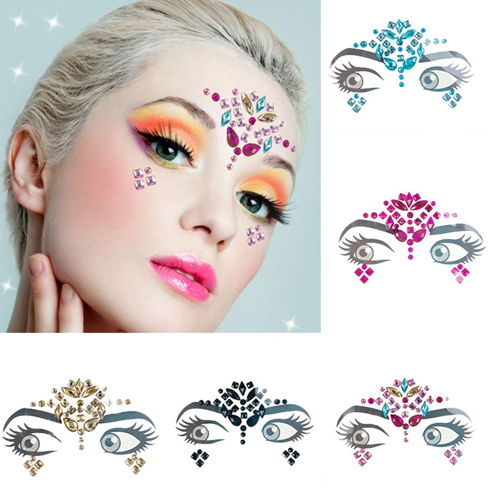 Party Eye Tattoo Stickers Diy Eyebrow Face Body Art Adhesive Crystal Glitter Jewels Festival Makeup Shining Beauty Diamond Face Buy At The Price Of 1 46 In Aliexpress Com Imall Com