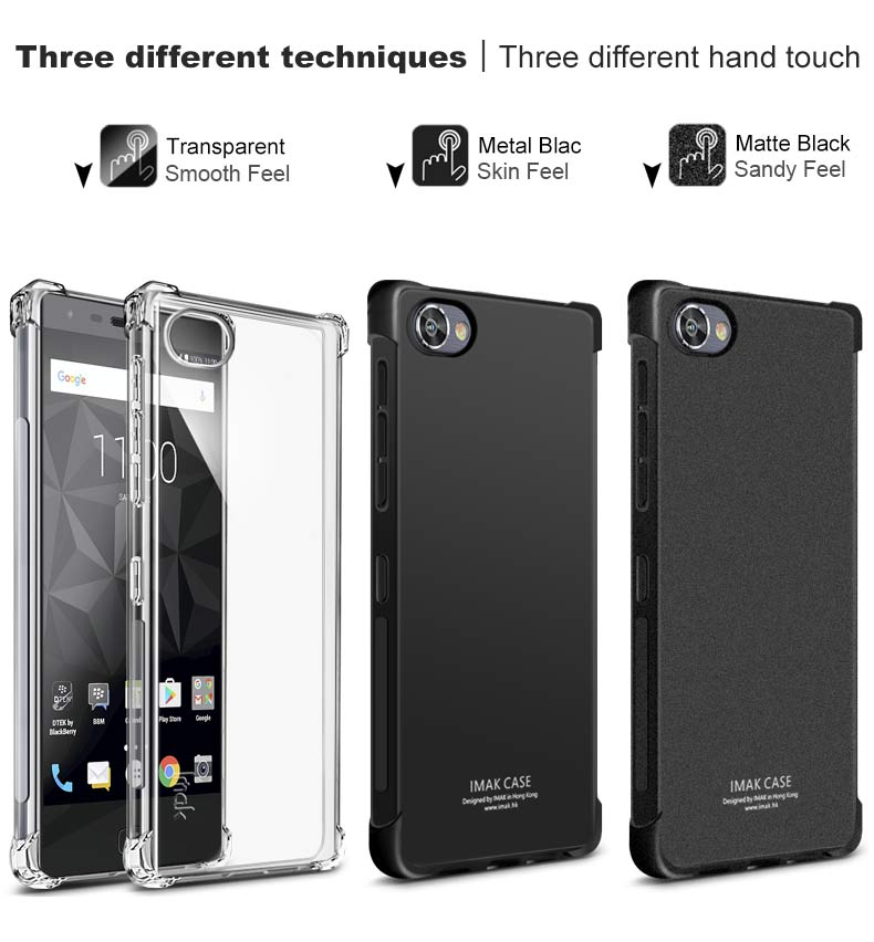 Original iMAK Airbag Super-slim Soft Phone cases for BlackBerry Motion case +Soft protective Film For BlackBerry Motion Case