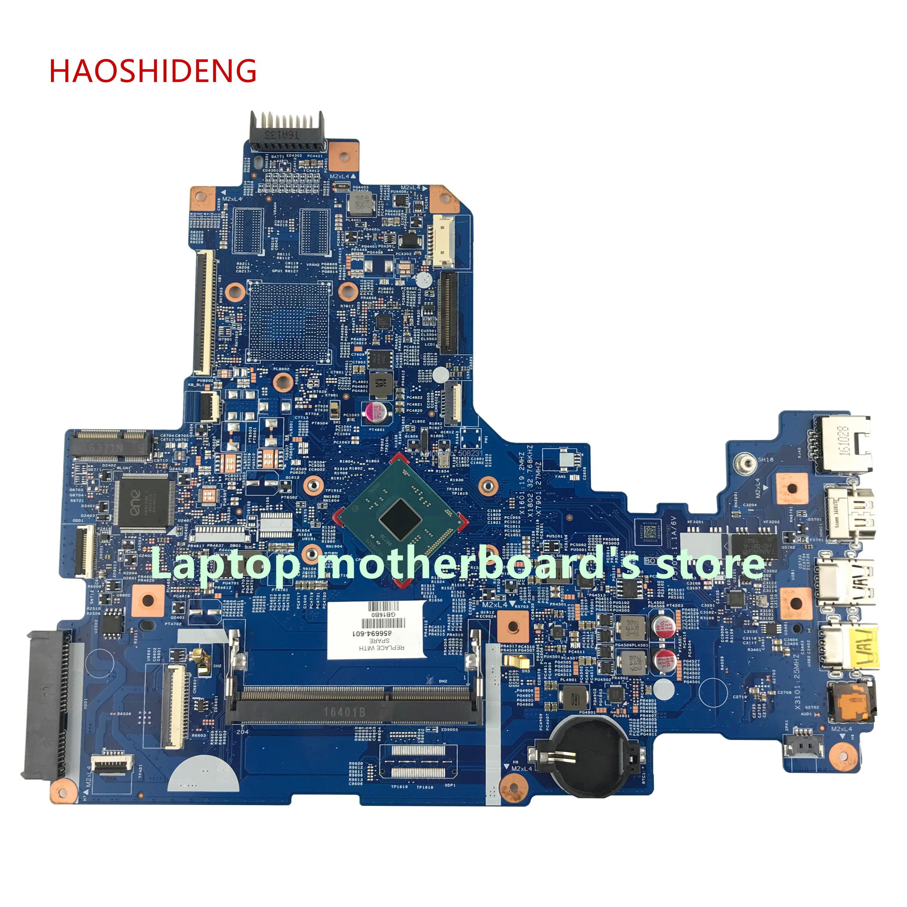 HAOSHIDENG 856694-601 15288-1 448.08D01.0011 for HP NOTEBOOK 17-X 17T-X 17-X010NR laptop motherboard with N3710 fully Tested haoshideng 902337 601 448 08p03 0021 for hp notebook 17 y 17z y 17 y007cy notebook motherboard 902337 501 with a12 9700p cpu
