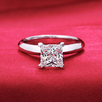 Brand New 1 25 Carat SONA Synthetic Diamond Fashion Ring 925 Sterling Silver Simulation Diamond Ring