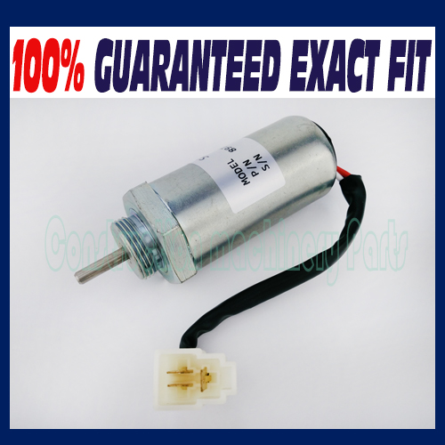 Fuel Shut off Solenoid MV1-81 12V for Isuzu Engine 4LE2 for Hitachi Excavator EX35U EX27U EX50U ZAXIS35U new water pump for hitachi excavator ex120 2 for isuzu engine 4bd1